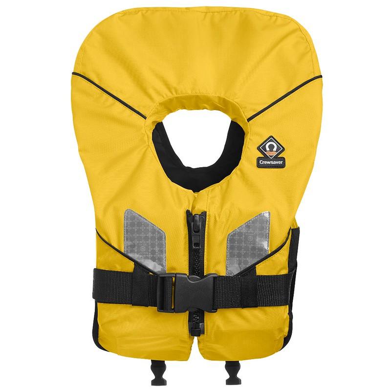 Yellow life jacket.