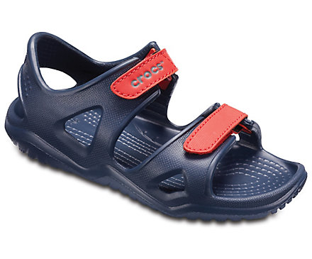 Blue and red/orange Kids' Swiftwater River Sandal.