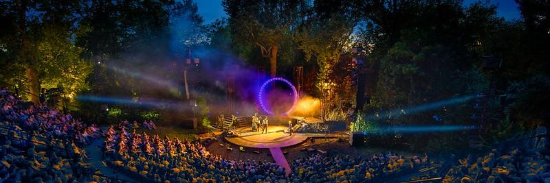 Evening performance at Regent's Park Open Air Theatre.