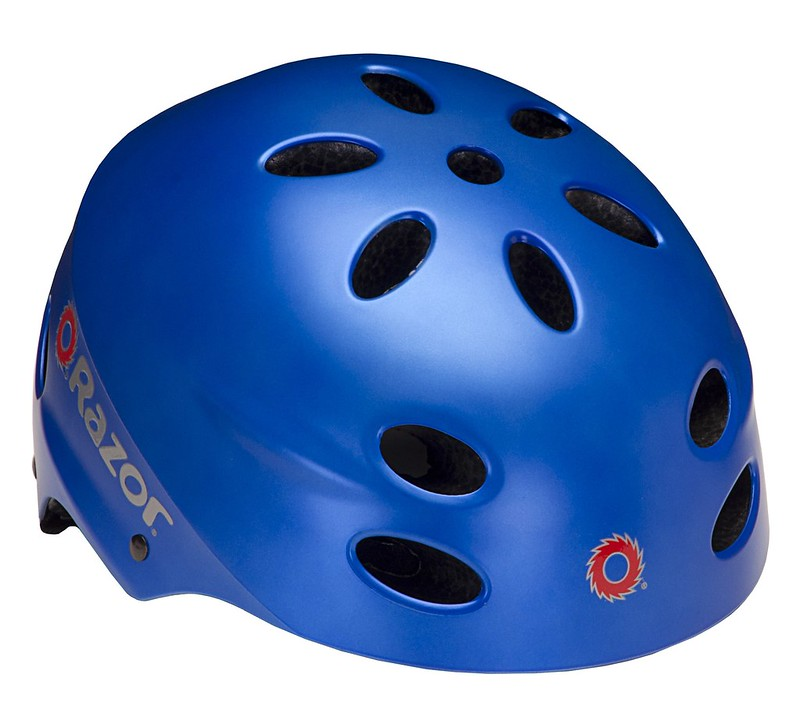 A blue Razor V-17 Multi-Sport Kids Bike Helmet.