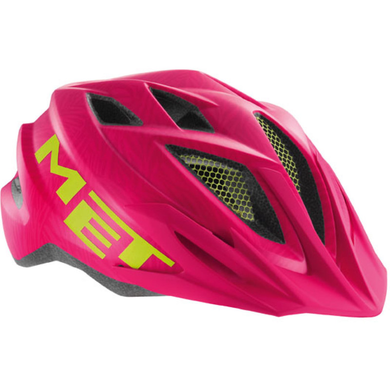 A pink MET Crackerjack Kids Bike Helmet.