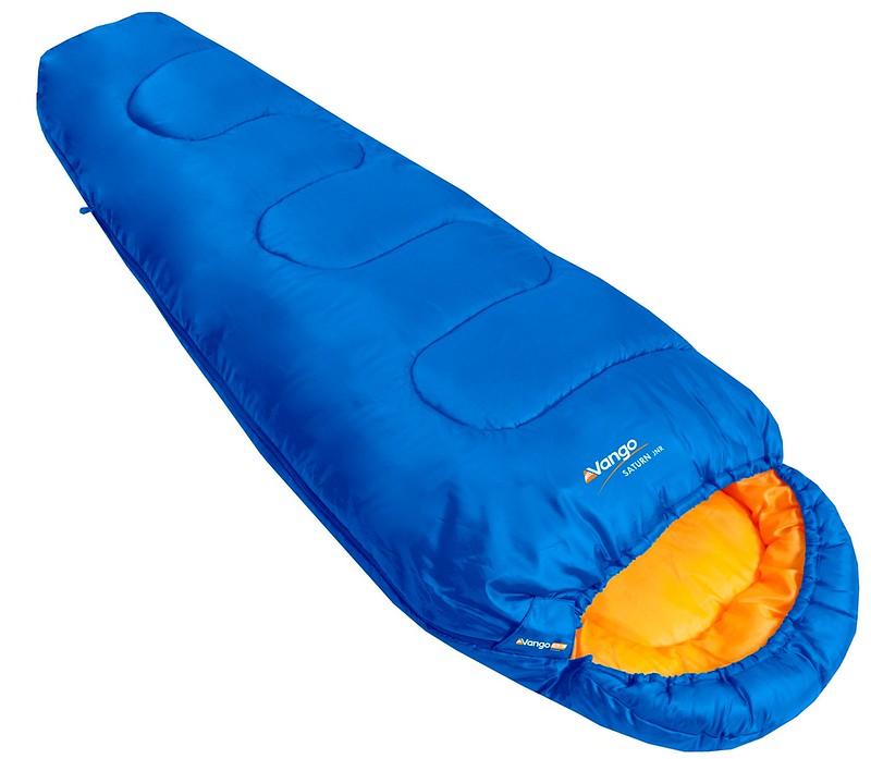 A blue Vango Saturn Kids' Outdoor Sleeping Bag.