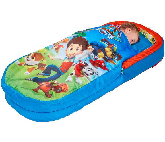 Child sleeping in a Paw Patrol themed My First ReadyBed.