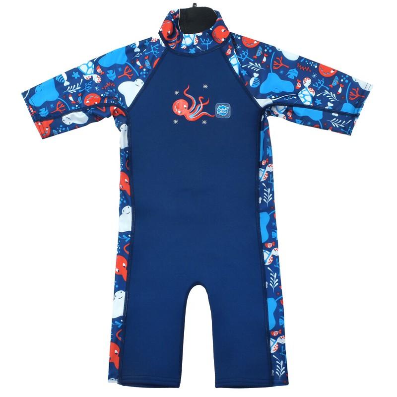 A blue sea-patterned UV Sun & Sea Suit.
