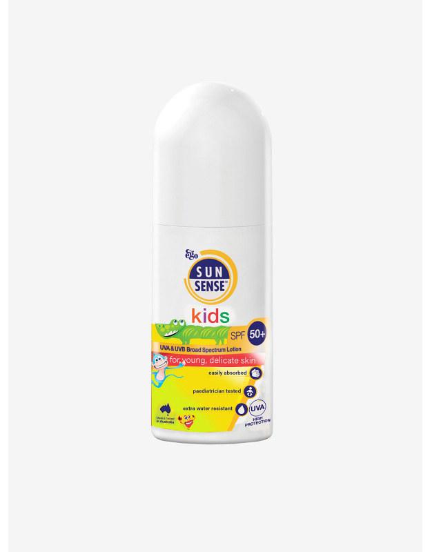 A Sunsense Kids SPF 50+ bottle.