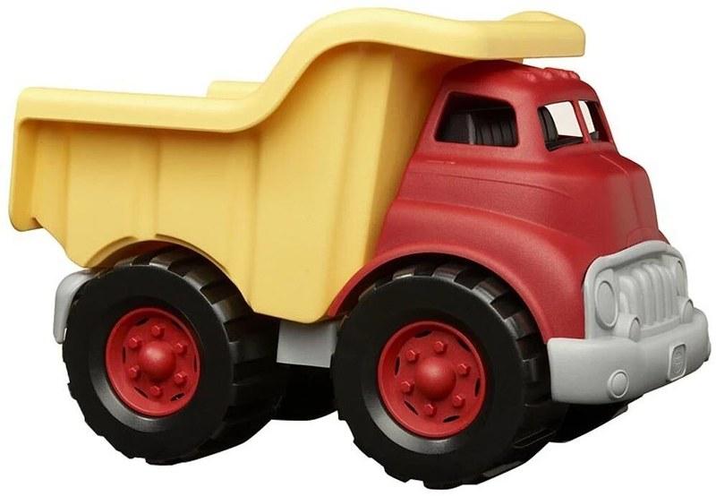 A Green Toys Dump Truck.