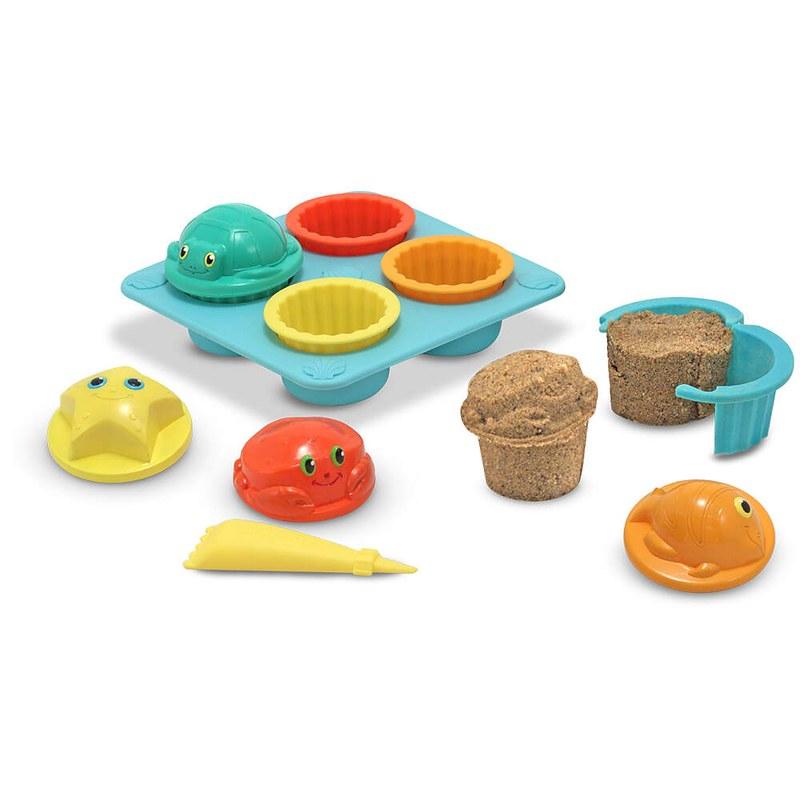 A Melissa & Doug Sand Cupcake Set.