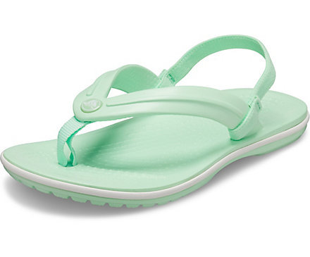 A mint green Kids' Crocband™ Strap Flip.