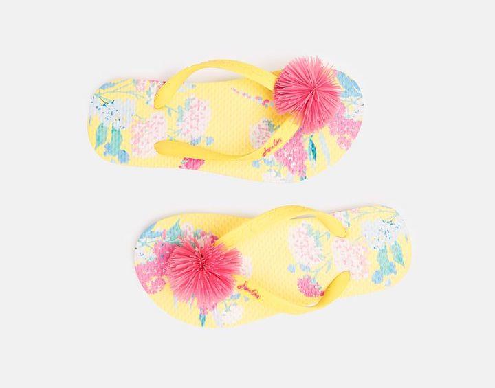 Floral Joules Kid's Flip Flops.