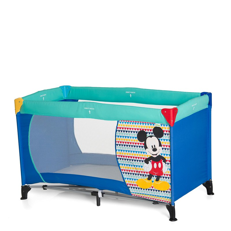Micky Mouse themed Dream'n' Play Hauck Travel Cot.
