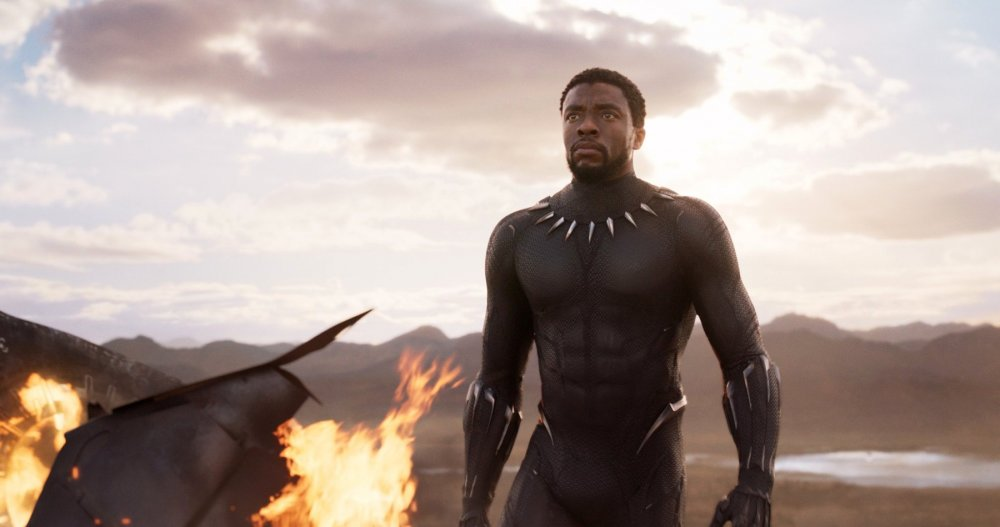 A shot of King T'Challa from The Black Panther movie.