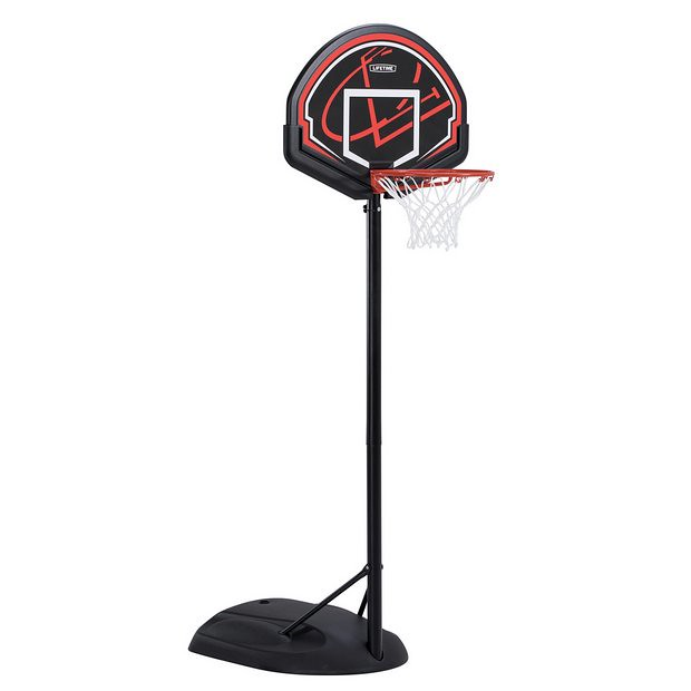 A Lifetime Youth Portable Basketball Hoop.