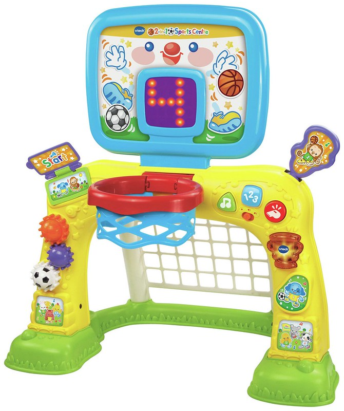 A Vtech 2 in 1 Sports Centre.