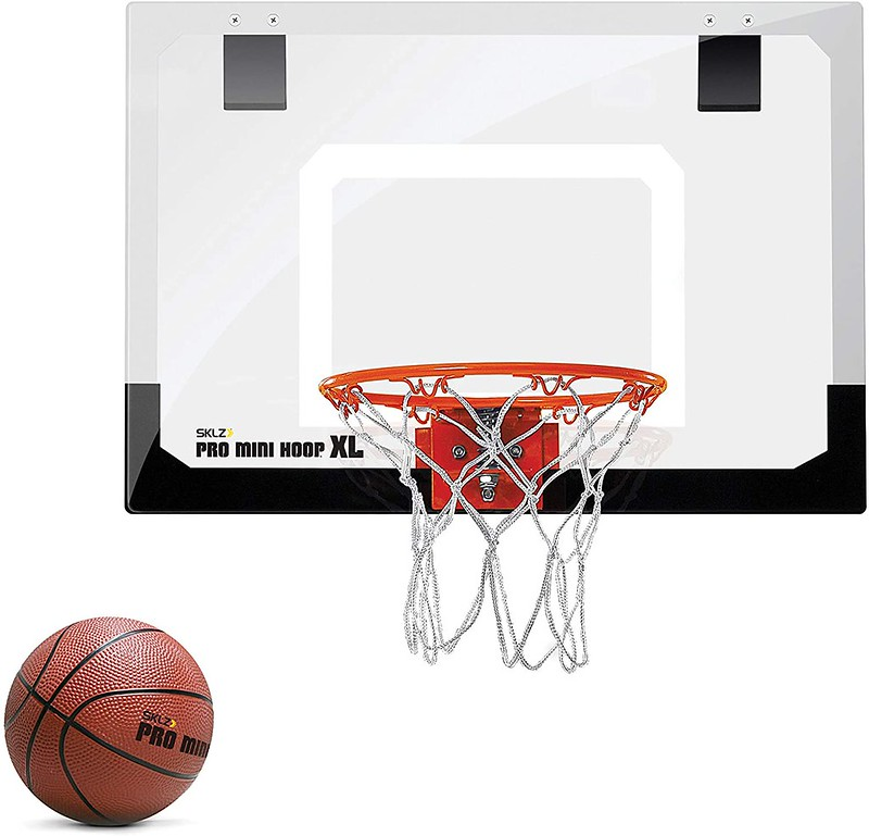 A Skilz Pro Mini Hoop XL Basketball Hoop.