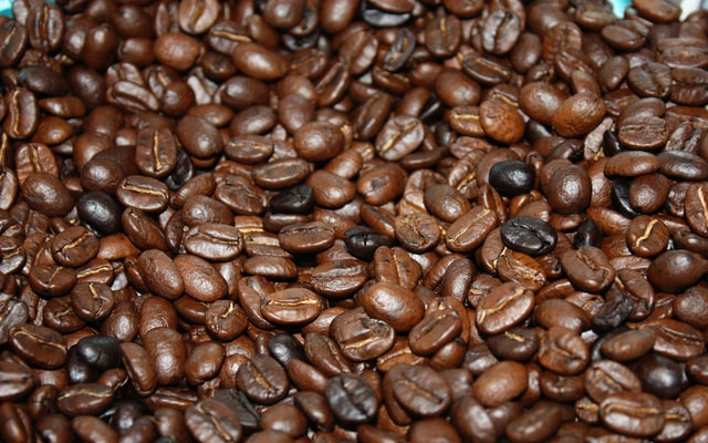 Coffee beans, a large export of Peru.