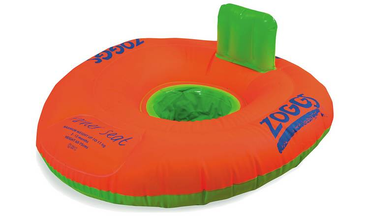 A Zoggs Baby Zoggy Inflatable Swim Seat.