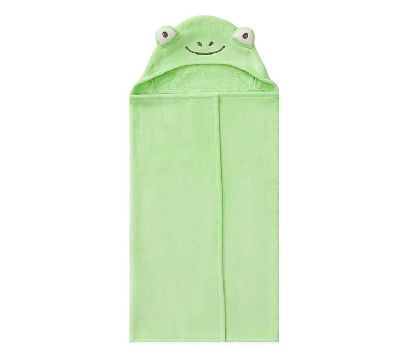 Green Frog Nursery Hooded Wrap by Pottery Barn.