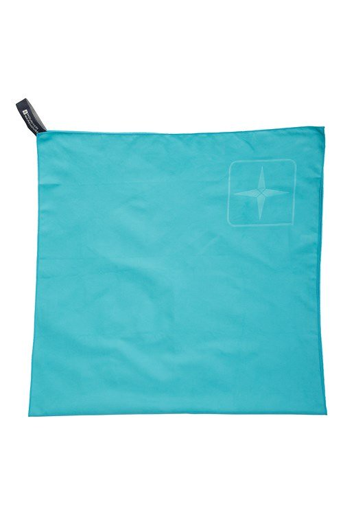 Blue Microfibre Travel Towel Giant by Mountain Warehouse.