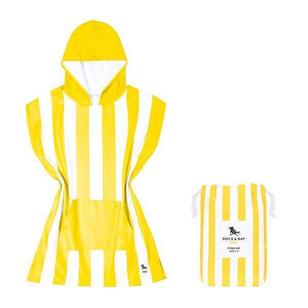 White and yellow Kids Poncho Cabana Collection.