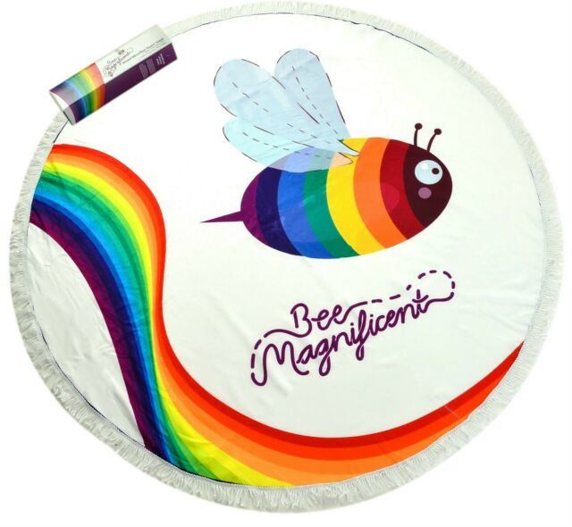 A Round Microfibre Beach Towel by Bee Magnificent.