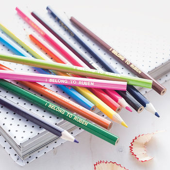 Personalised Colouring Pencils.