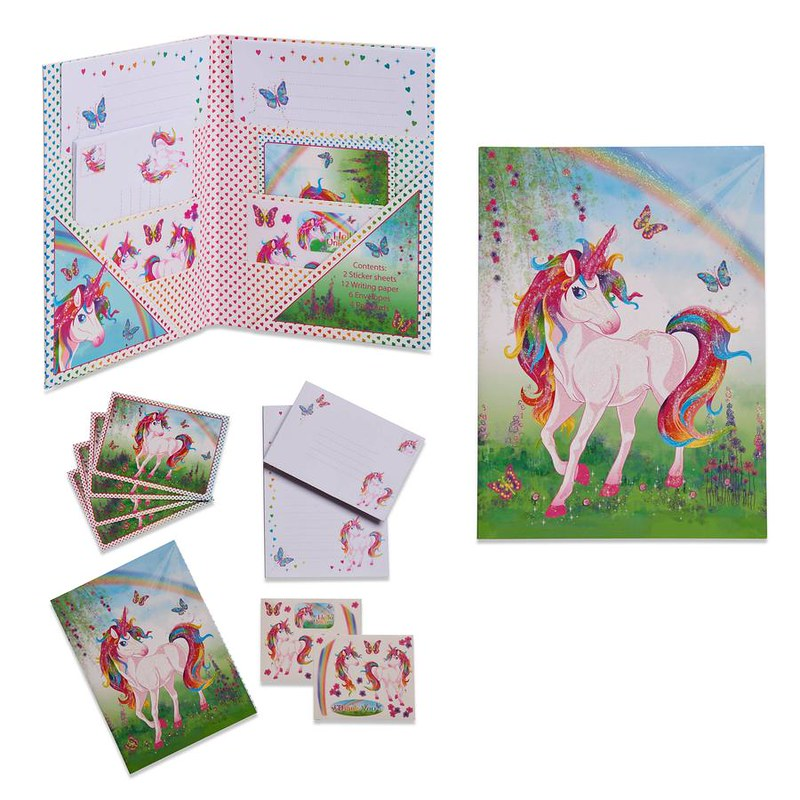 Lucy Locket Magical Unicorn Writing Set.