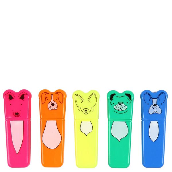 5 Mini Dog Highlighters.
