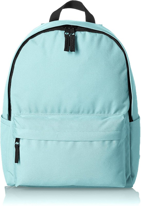 Mint green classic backpack.