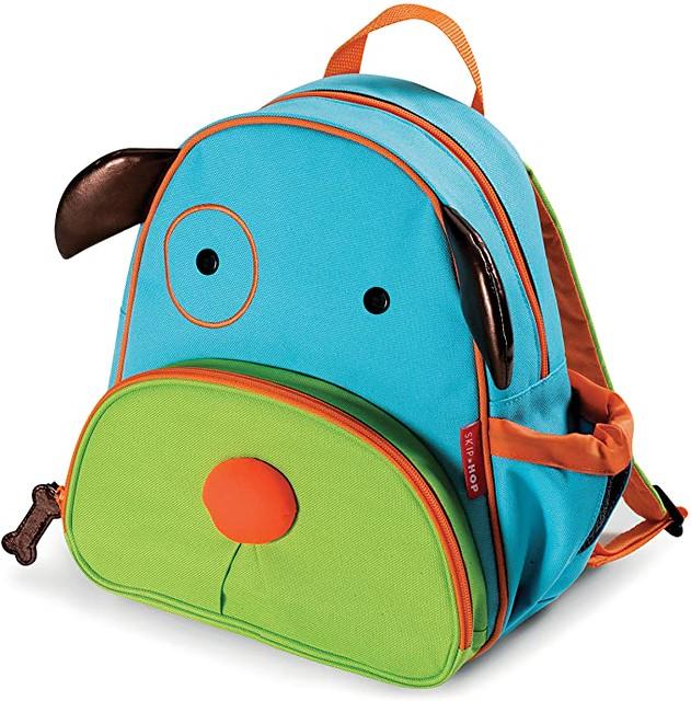 Zoo Little Kids Backpack, shaped like a dog.