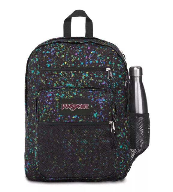 Paint splattered style big campus backpack.