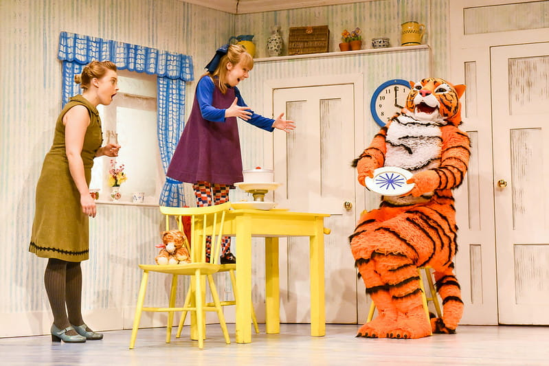 The Tiger Who Came to Tea live on stage.