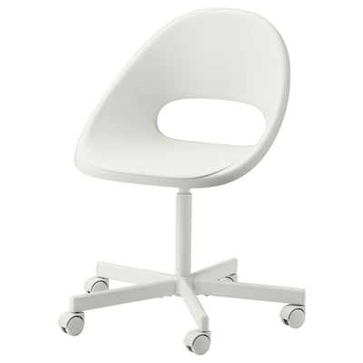 White LOBERGET / BLYSKÄR chair.