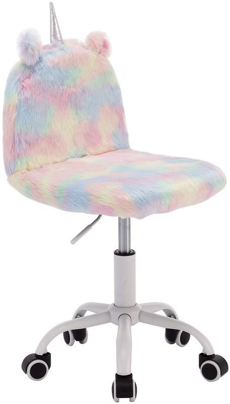 Pastel unicorn Children's Study Desk Chair.