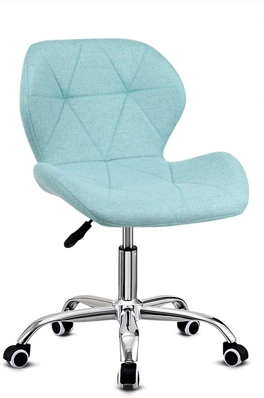 Blue Padded Computer Chair.