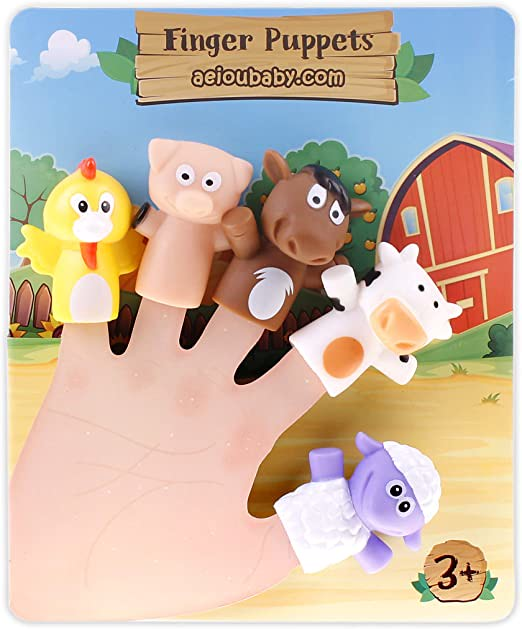 AeiouBaby Farm Animal Finger Puppets.