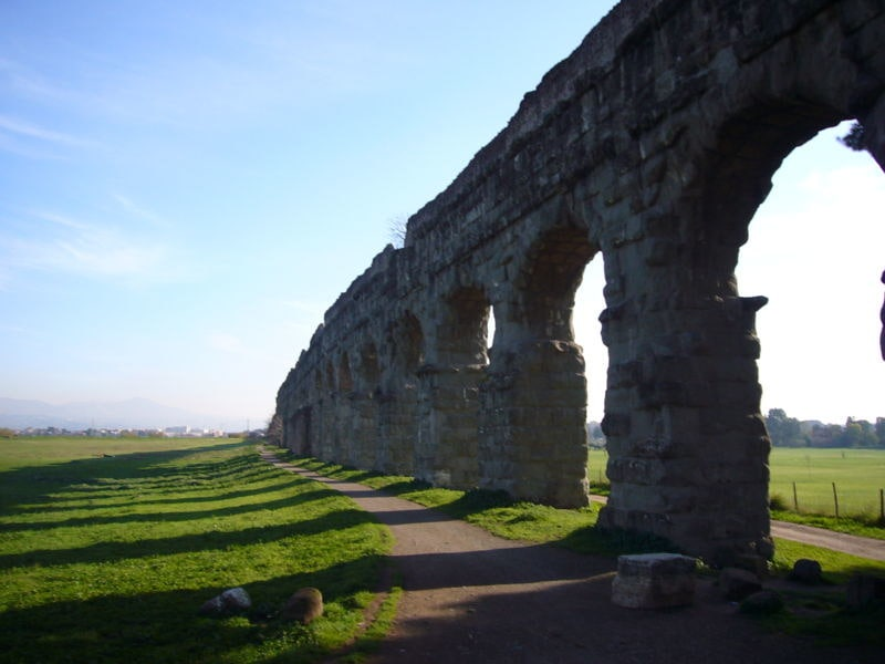 The Appia Aqueduct, created and constructed by the Romans.