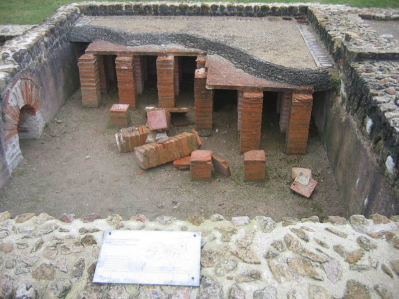 The hypocaust heating system, the first form of underfloor heating.