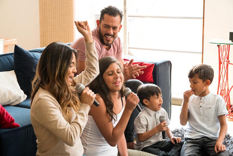 Family Singing Karaoke