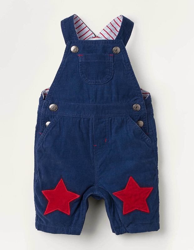 Jersey-Lined Cord Dungarees.