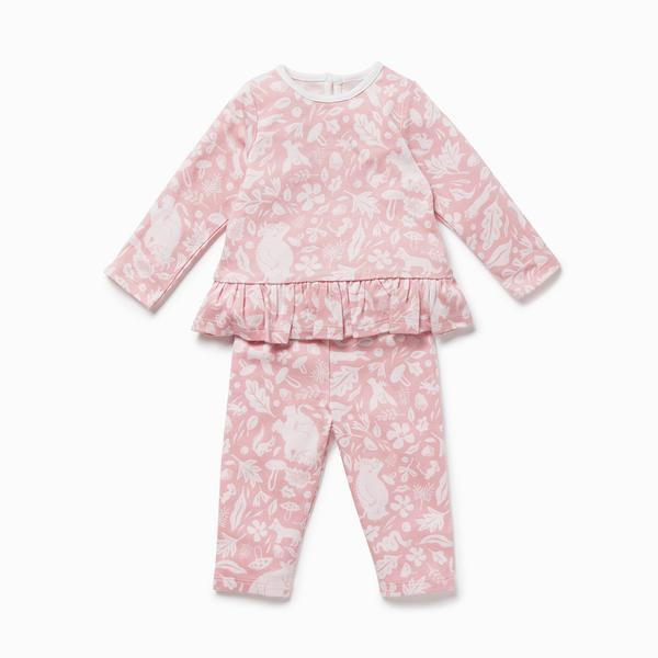 Gruffalo Foxglove Pink Ruffle Pyjamas.