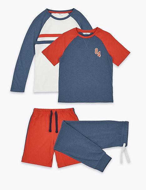 2 Pack Cotton Rich Pyjama Set.