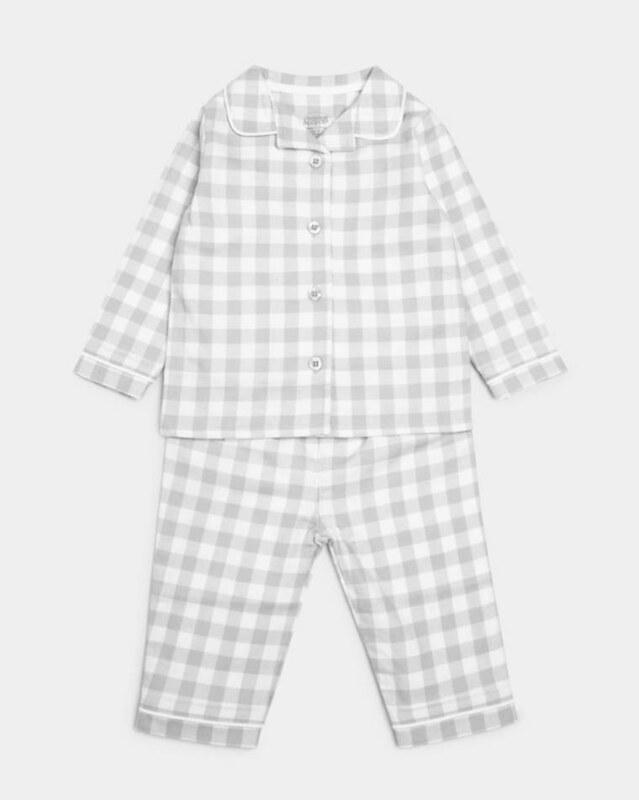 Grey Woven Pyjamas.