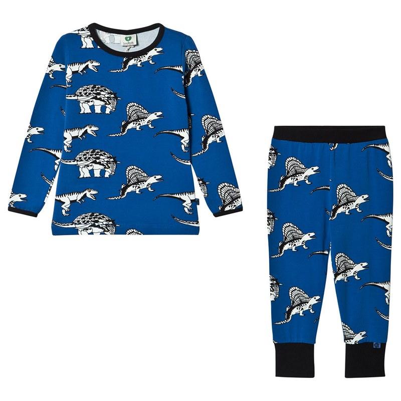 Småfolk Deep Blue Dinosaur Pyjama Set.