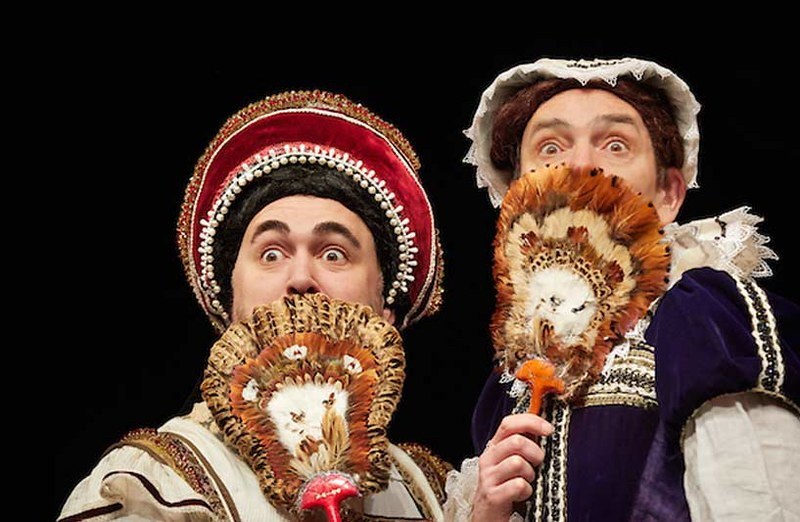 Actors on stage in Horrible Histories: Barmy Britain.