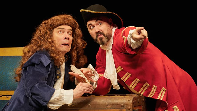 Actors on stage in Horrible Histories: Barmy Britain Part 5.