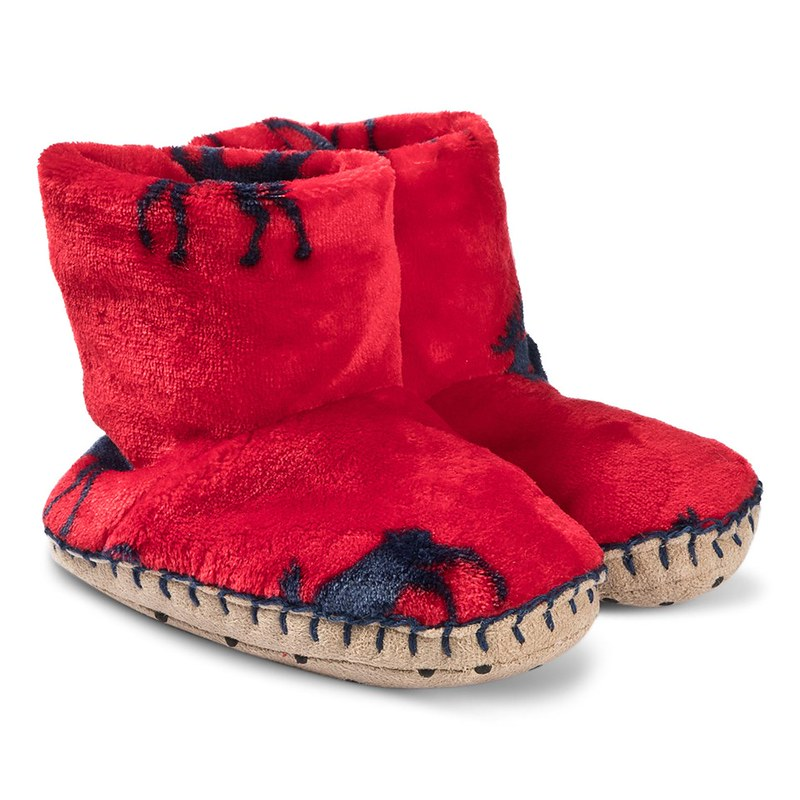 Red Moose Gathering Fleece Slippers.