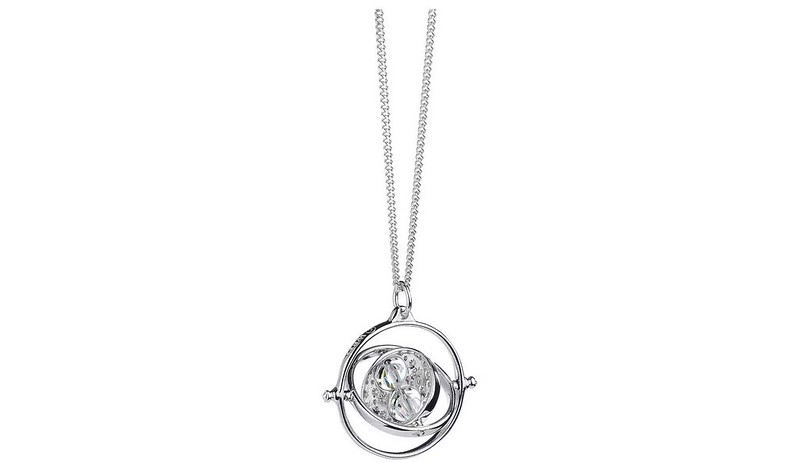 Harry Potter Sterling Silver Time Turner Pendant Necklace.