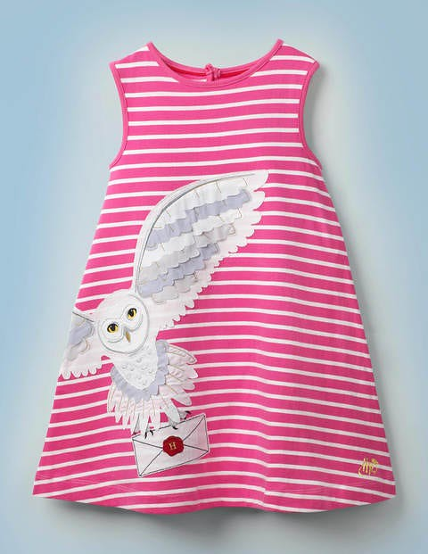 Stripy Appliqué Hedwig Dress.