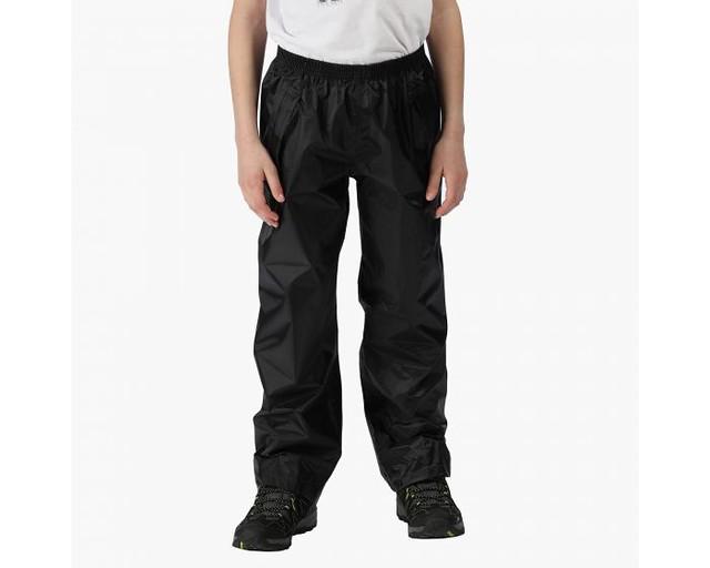 Kids' Stormbreak Waterproof Overtrousers Black.