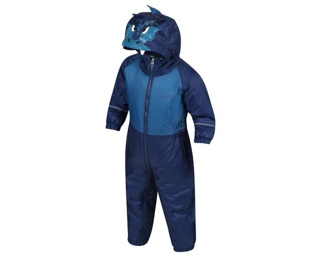 Kids' Mudplay III Breathable Waterproof Puddle Suit Blue Dragon.
